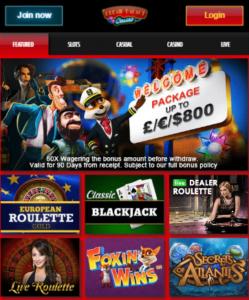 Lobby DreamPalaceCasino - Phone Bill Casino