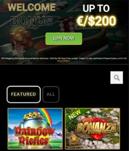 Join Now - Dream Palace Casino