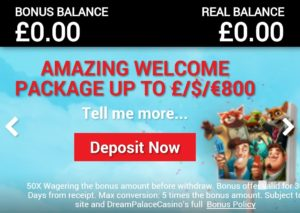 Dream Palace Casino Deposit Now