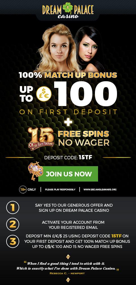 Promotion 100% + 15FS